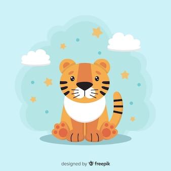 Dziecko tygrysa tło
