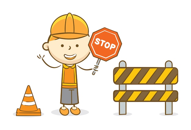Dziecko z znakiem stop