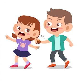 Dziecko znęcające się nad przyjacielem złe zachowanie nie jest dobre