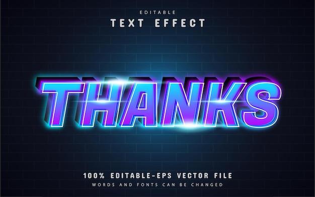 Dzięki efekt tekstowy z gradientem