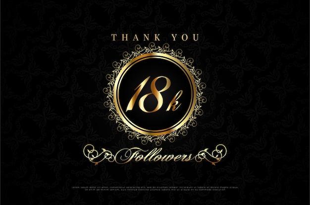 Dziękuję 18k obserwującym z numerami, które są złote w brązowej kombinacji