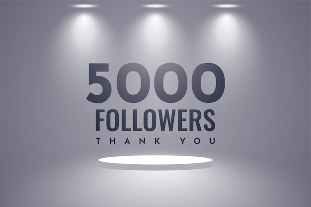Dziękuję 5000 zwolenników projektowania szablonu ilustracji