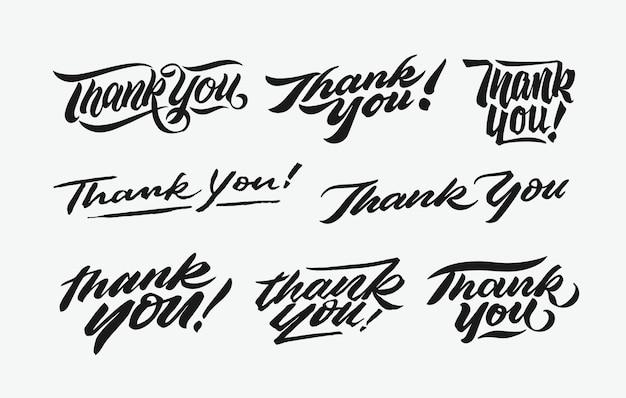 Dziękuję ci napisany pakiet napisów