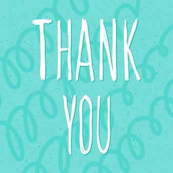 Dziękuję ci. odręczny napis i ręcznie robione okładki doodle dla karty projektu, zaproszenia, koszulki, książki, banera, plakatu, albumu, albumu itp.
