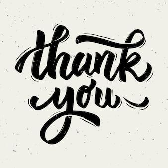 Dziękuję ci. ręcznie rysowane frazę literowanie na białym tle.