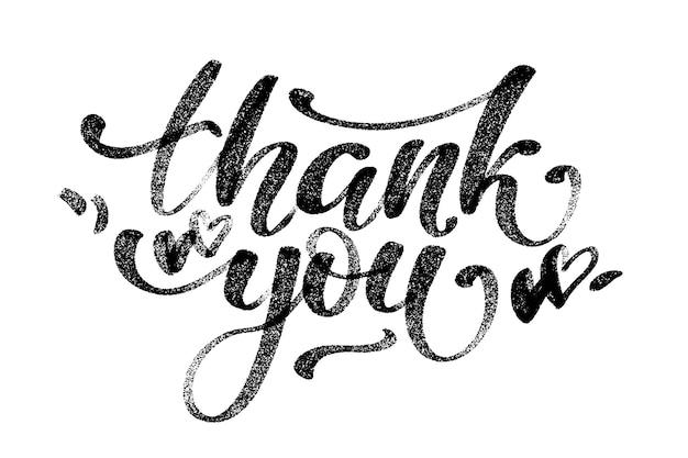 Dziękuję ci. ręcznie rysowane kreatywne kaligrafia i napis pióro pędzla, kartki świąteczne i zaproszenia.