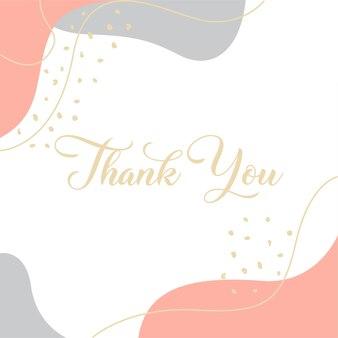 Dziękuję karta dekoracyjna nowoczesny design radosny wektor eps