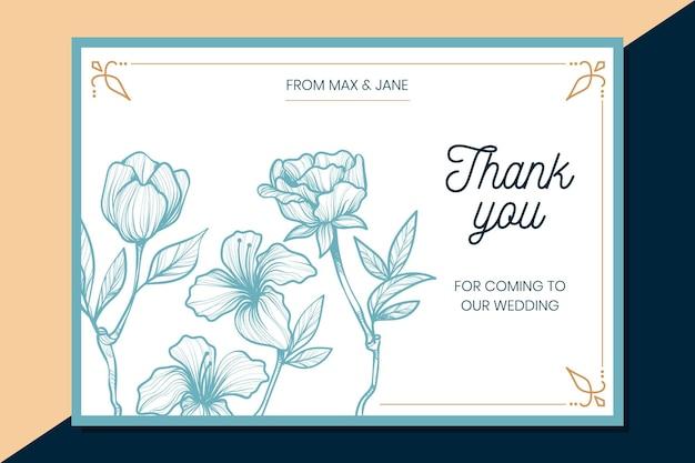 Dziękuję karty ślubne