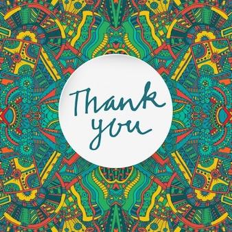 Dziękuję karty z elementami azteckiego