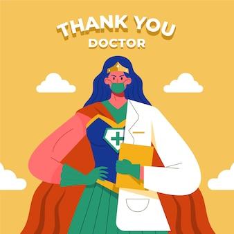 Dziękuję koncepcja doktora superbohatera