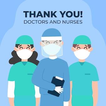 Dziękuję koncepcji lekarzy i pielęgniarek