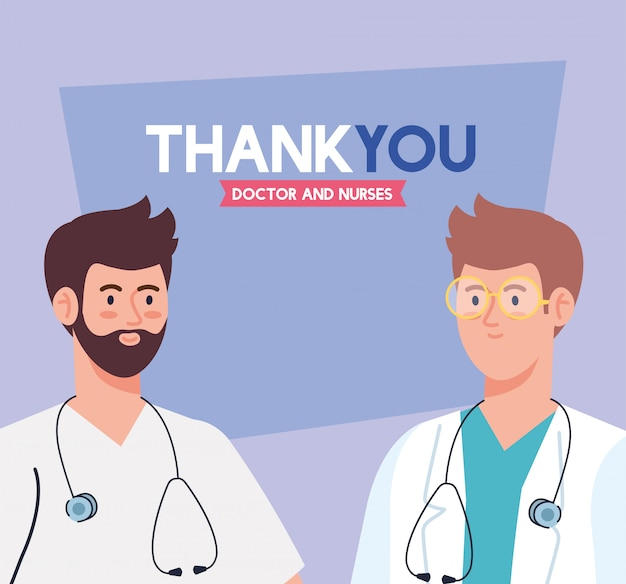 Dziękuję lekarzom i pielęgniarkom pracującym w szpitalach, lekarzom walczącym z koronawirusem covid 19