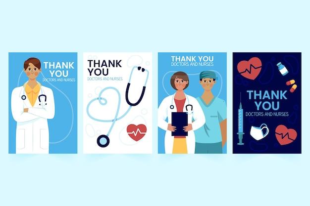 Dziękuję lekarzom i pielęgniarkom z kolekcji pocztówek