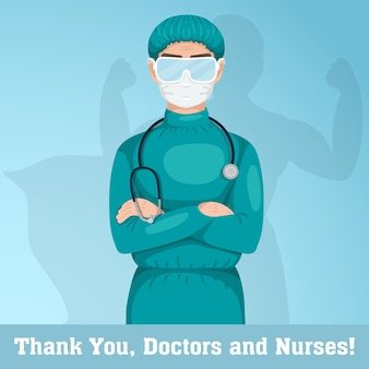 Dziękuję lekarzom i pielęgniarkom