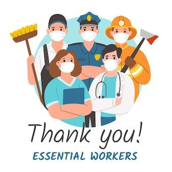Dziękuję niezbędnym pracownikom