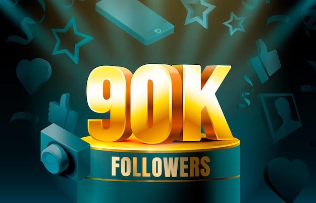 Dziękuję obserwującym baner 90 tysięcy obserwujących