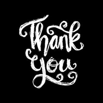 Dziękuję ręcznie kaligrafia napis.