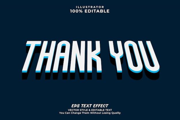 Dziękuję styl tekstu efekt, edytowalny tekst premii