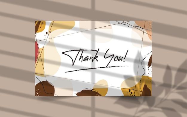 Dziękuję szablon karty