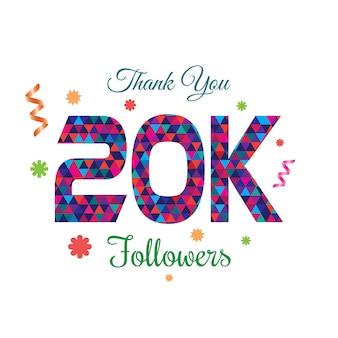 Dziękuję szablon projektu 20k followers
