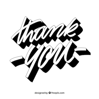 Dziękuję tle z czarnym napisem