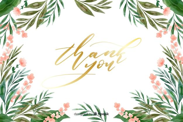 Dziękuję tło z kwiatową dekoracją