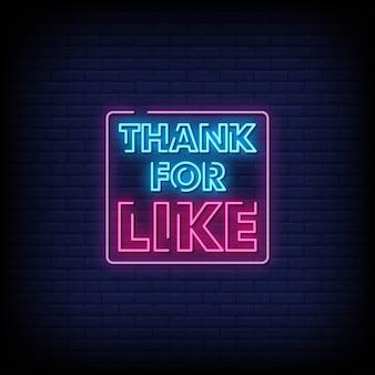 Dziękuję za tekst w stylu neon signs
