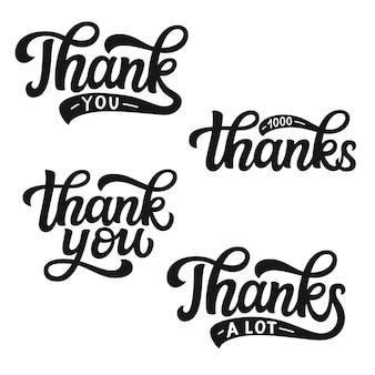 Dziękuję zestaw liter