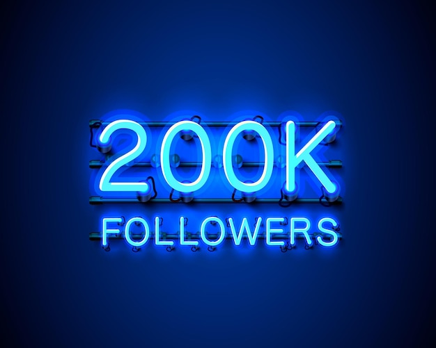 Dziękuję zwolennikom narodów, 200 tys. internetowej grupy społecznej, neon