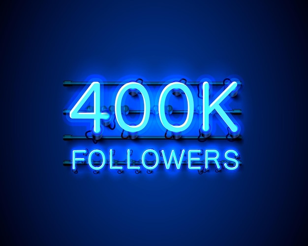 Dziękuję zwolennikom narodów, 400 tys. internetowej grupy społecznej, neon