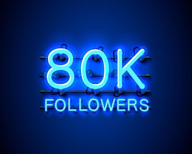 Dziękuję zwolennikom narodów, 80-tysięcznej internetowej grupie społecznej, neonowi