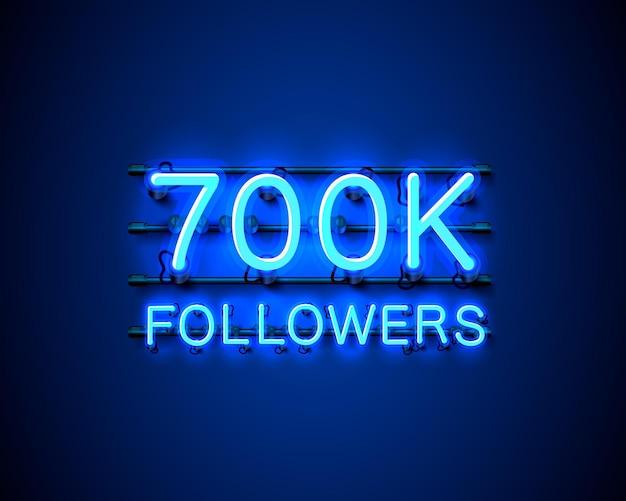 Dziękuję zwolennikom narodów, grupie społecznościowej online 700 tys., neonowi