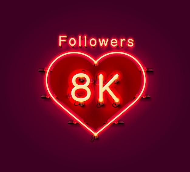 Dziękuję zwolennikom narodów, grupie społecznościowej online 8k, neonowi