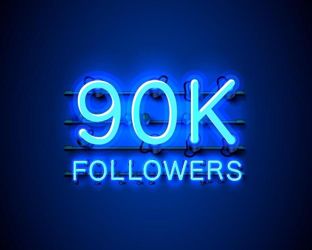Dziękuję zwolennikom narodów, grupie społecznościowej online 90 tys., neonowi