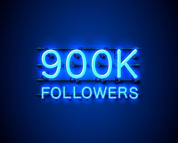 Dziękuję zwolennikom narodów, grupie społecznościowej online 900 tys., neonowi