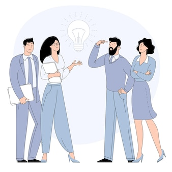 Dzielenie się pomysłami biznesowymi, współpraca i praca zespołowa