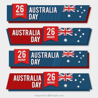 Dzień australii banner collection
