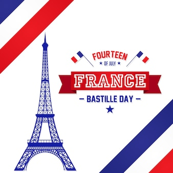 Dzień bastylii 14 lipca, vive la france, francja świętować