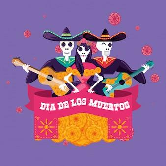 Dzień czaszek mariachi i katarzyny z partii zmarłych