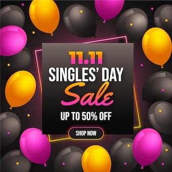 Dzień dla singli z balonami