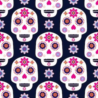 Dzień dnia wzór czaszki