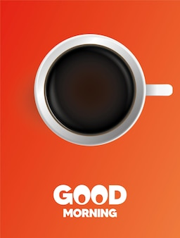Dzień dobry. czas na kawę. plakat