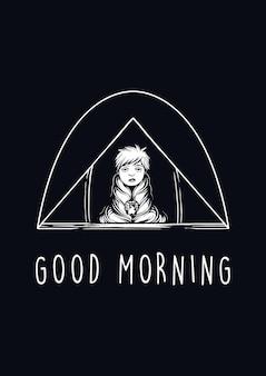 Dzień dobry ilustracja