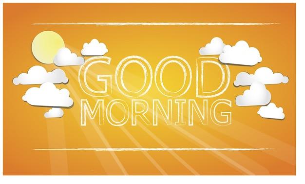 Dzień dobry pomarańczowy tle