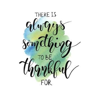 Dzień dziękczynienia napis być wdzięczny odręczny wektor wzór akwarela frazy