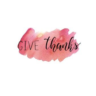 Dzień dziękczynienia napis podziękuj odręcznie napisane zdanie na sezonowe jesienne wakacje vector