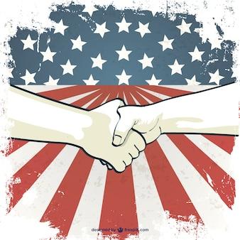 Dzień hand shake wektor świata pracy