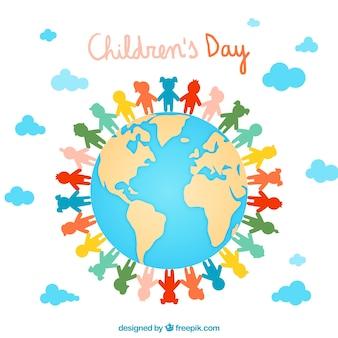 Dzień ilustracja kolorowe dzieci