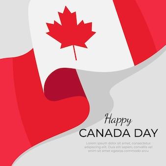 Dzień kanady w koncepcji płaska konstrukcja
