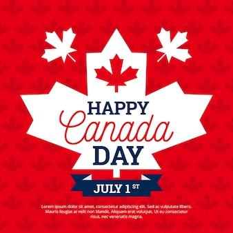 Dzień kanady z liściem klonu
